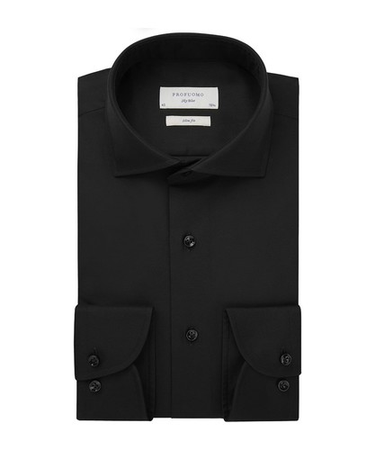Profuomo Shirt - Black - Slim Fit - Royal Twill (1)