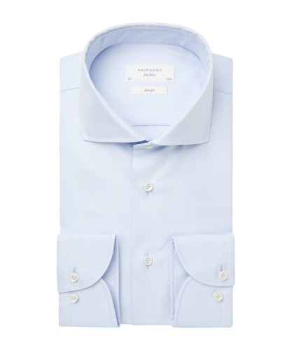 Profuomo Shirt - Blue - Slim Fit - Royal Twill (1)
