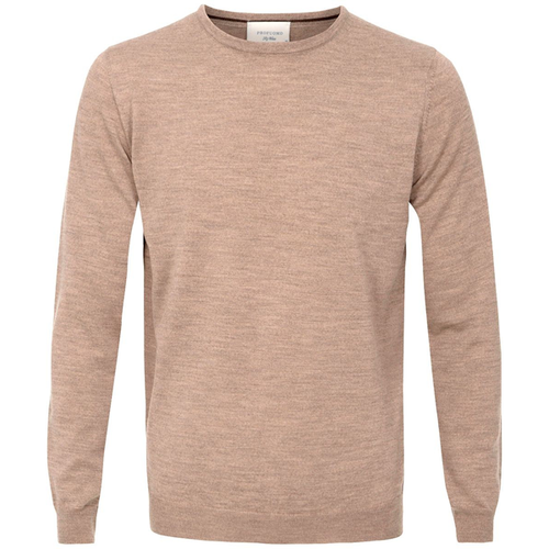 Profuomo Knitted Sweater beige merino crew neck (1)