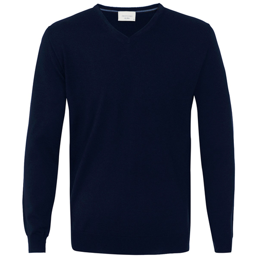 Profuomo Knitted Sweater Navy merino v-neck (1)