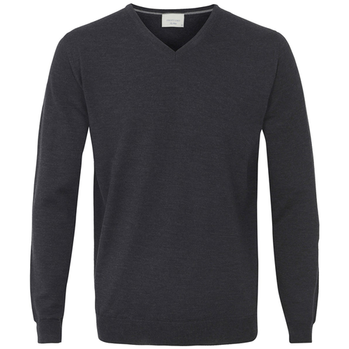 Profuomo Knitted Sweater Anthracite merino v-neck (1)